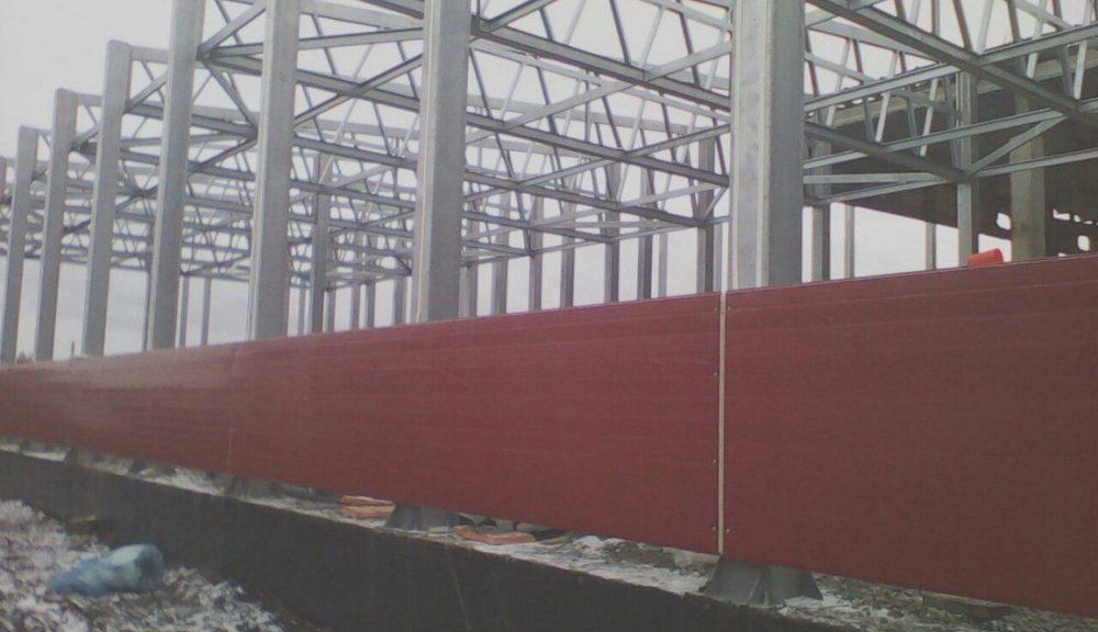 "Стеновые сэндвич-панели ""AreaPanels.ru (экструзия)"". 4733 кв.м. Металический каркас по технологии ЛСТК."