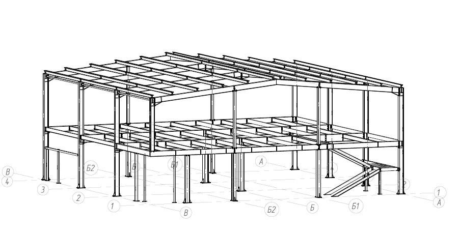 Здание из металлоконструкций и сэнвич панелей