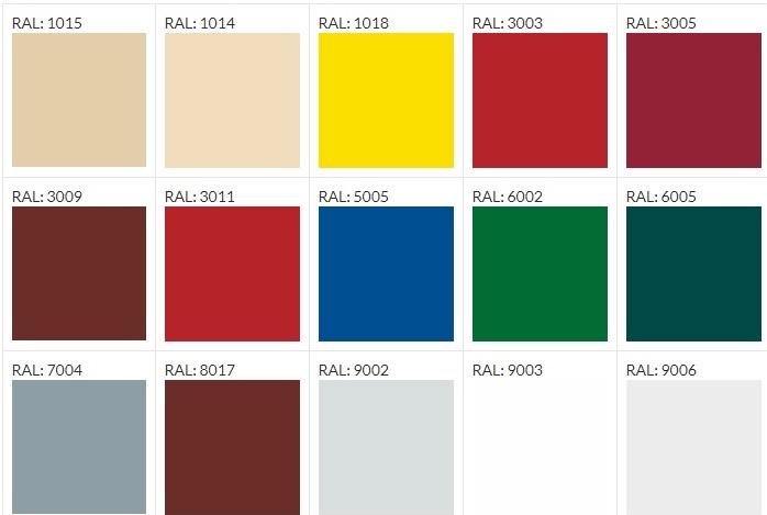 Стандартные цвета сэндвич панелей