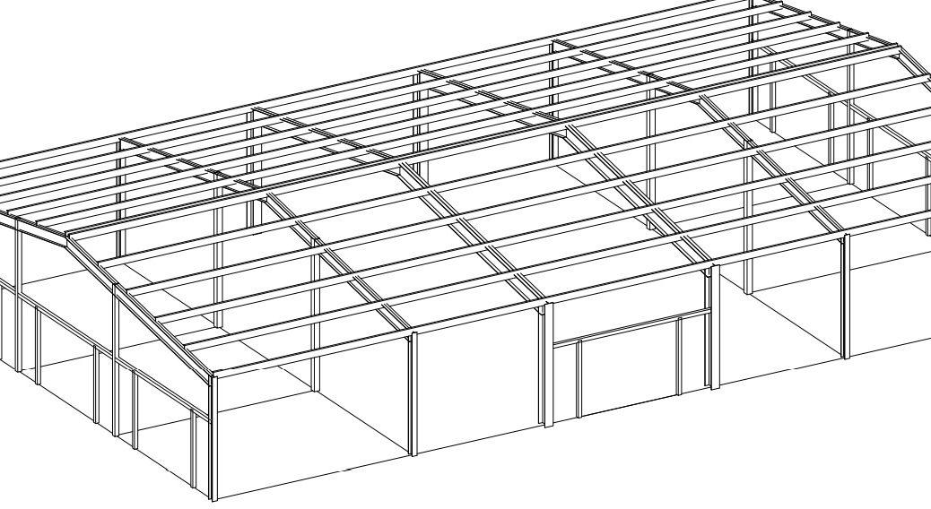 Быстровозводимое здание из металлоконструкции и сэндвич панелей